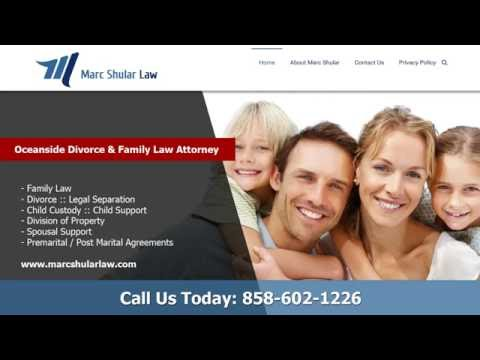Oceanside Divorce and Family Law Attorney - Marc Shular Law :: 858 602 1226