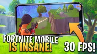 FORTNITE MOBILE GAMEPLAY IS 30FPS WITH GOOD GRAPHICS! iOS/ANDROID - Fortnite: Battle Royale