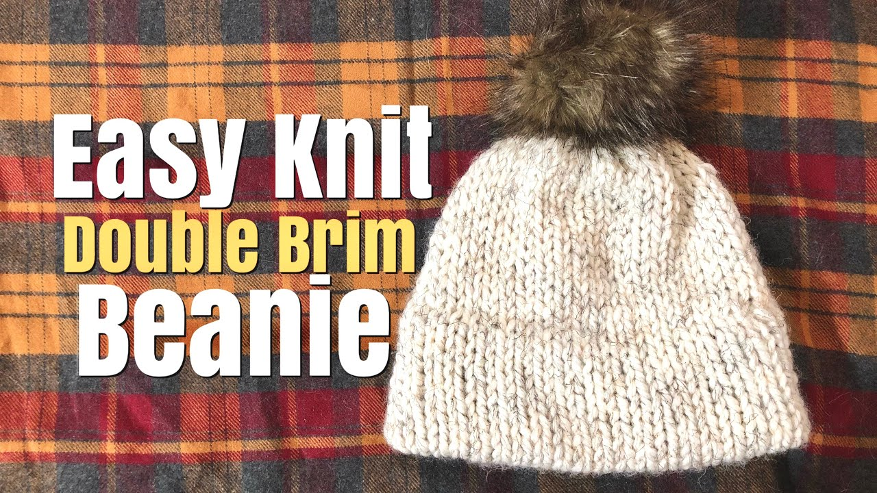 How To Knit  Easy Knit Double Brim Beanie - YouTube 086ec72560d