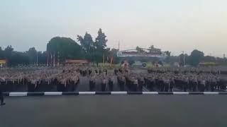 Yel-Yel siswa diktuk bintara Polri SPN Polda Metro Jaya, Lido (SPN PMJ Lido) Angkatan 40 T.A 2017