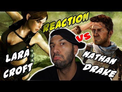 Nathan Drake vs Lara Croft. Épicas Batallas de Rap del Frikismo | Keyblade | Video Reaccion