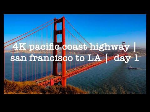 4K Pacific Coast Highway | San Francisco To LA | Day 1