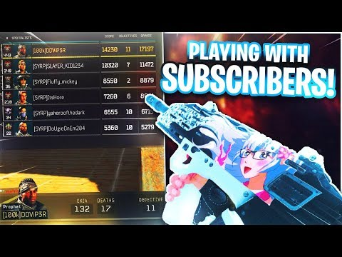 i Played with a FULL PARTY of SUBSCRIBERS on BLACK OPS 4! (INSANE GAMEPLAY!) - COD BO4