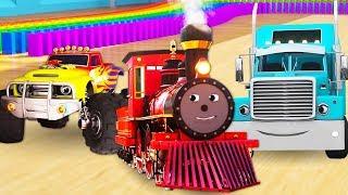 Мультики для детей про машинки и поезда. Приключения на дорогах!