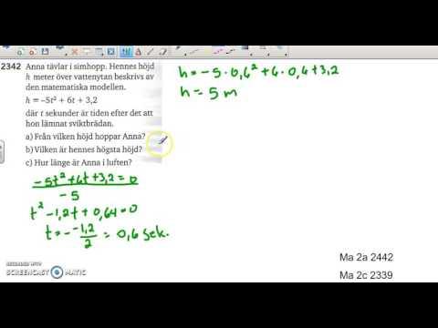Matematik 5000 Ma 2b   Kapitel 2   Andragradsfunktioner   Tillämpningar   2342