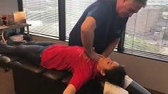 17 Year Old Brenham Texas Girl First Adjustment By Houston Chiropractor Dr Johnson