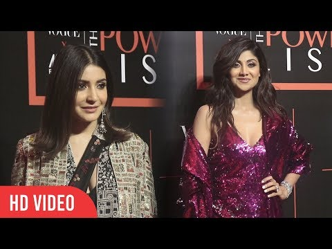 Anushka Sharma And Shilpa Shetty at Nykaa Fashion and Vogue India THE Power-List 2019