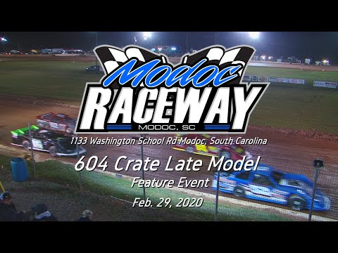 604 Crate Late Model @ Modoc Speedway Feb  29, 2020