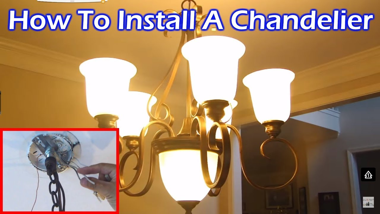 Install 6 Light Chandelier In Dining Room
