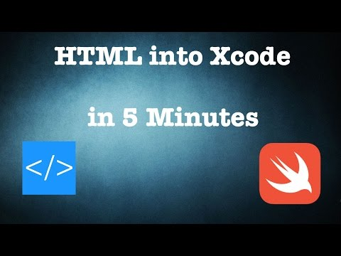 Getting HTML Content Into XCode In 5 Minutes.(Swift 3)