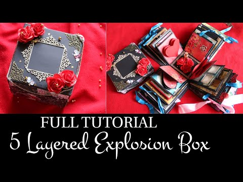FULL TUTORIAL - 5 LAYERED EXPLOSION BOX | DIY GIFT IDEAS | EXPLODING BOX | EXPLOSION BOXES