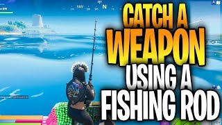 Catch a weapon using a Fishing Rod (NEW WORLD MISSION CHALLENGES - Season 1 Week 1)