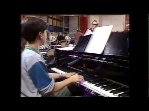 Urs Wiesendanger at age 14. Studio Jam with the Swiss radio big band