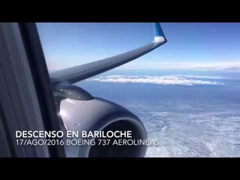 Aterrizaje en Bariloche con nieve