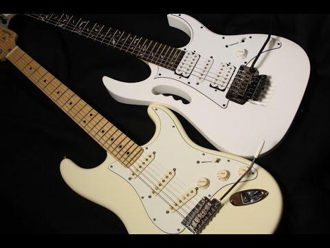GUITAR TONE - Fender Stratocaster vs Ibanez JEM JR - Babe I