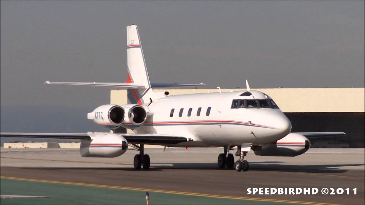 Parn Aviation Lockheed L-1329 JetStar II [N77C] Taxi - YouTube