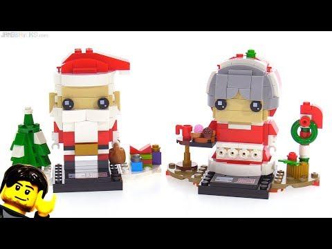 LEGO BrickHeadz Mr. & Mrs. (Santa) Claus reviewed! 40274