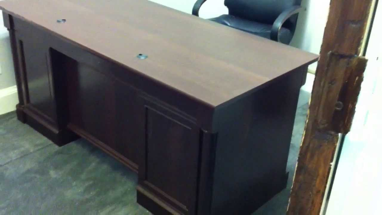 Sauder Executive Office Desk Assembly Service Video In DC MD VA By Furniture  Assembly Experts LLC