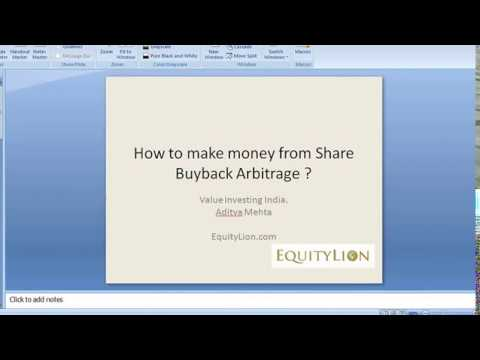 Value Investing: How to make money from Buyback Arbitrage!