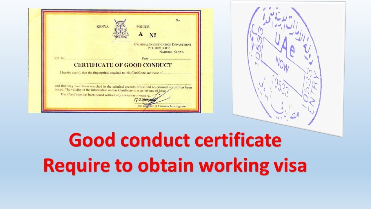 New rule for obtaining uae work visa good conduct certificate needed new rule for obtaining uae work visa good conduct certificate needed yadclub Images