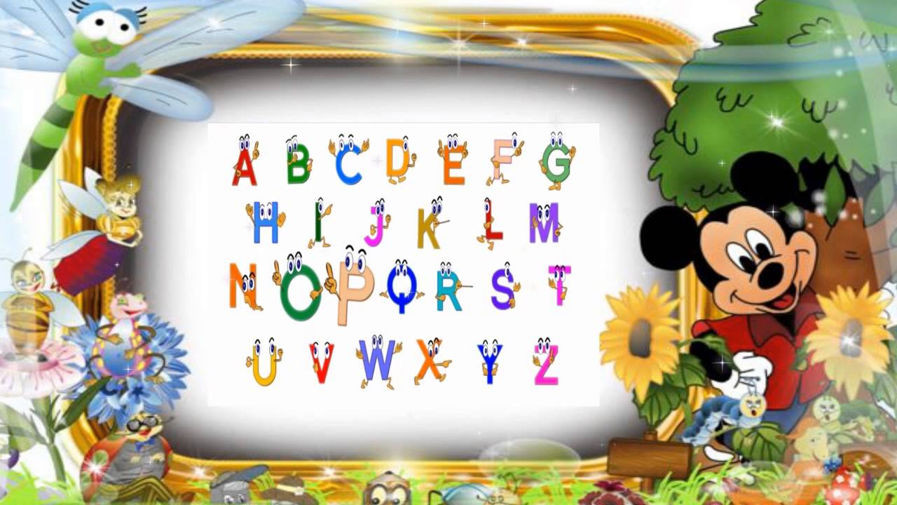 learn alphabet for kids abc song mickey mouse frame abc song for baby - Mickey Mouse Photo Frame
