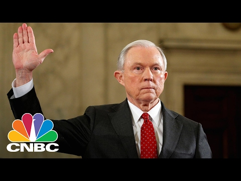 Jeff Sessions Sworn In As Attorney General | Power Lunch | CNBC