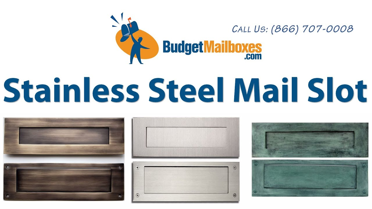 Budget Mailboxes | Stainless Steel Mail Slot