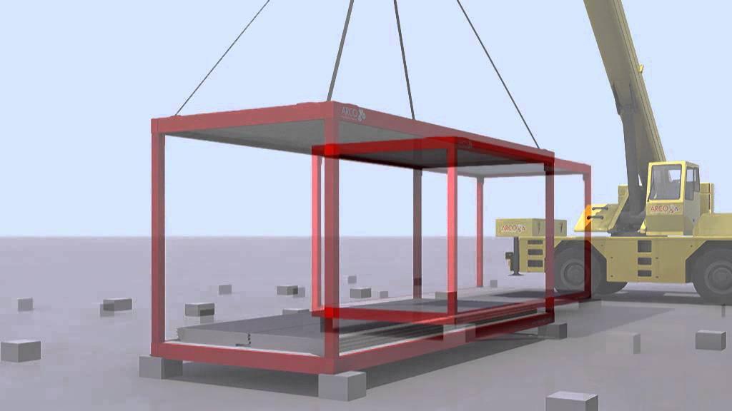 M dulo prefabricado en kit de m dulos arco youtube - Modulos prefabricados para viviendas ...