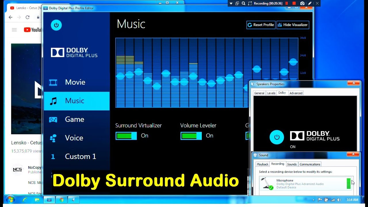 How to Install Dolby Surround Audio on Windows 7 (2018)