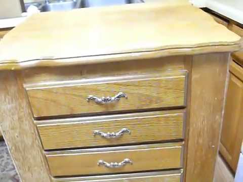 Fixing the Finish on a Weathered Piece of Furniture - Jewelry Case Armoire