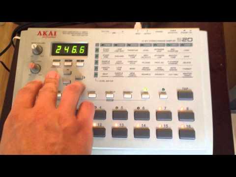 Akai s20 sampler demo