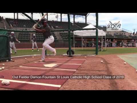 Out Fielder Damon Fountain St Louis Catholic High School Class of 2019