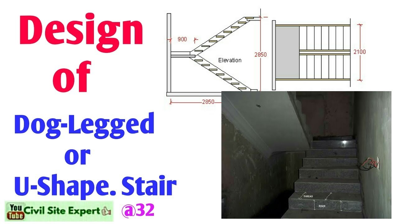 Designed Of Dog Legged Stair Design Of U Shaped Stair Case How