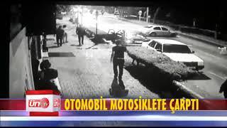 Ünye'de Otomobil Motosiklete Çarptı!