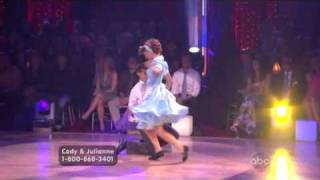 Julianne Hough & Cody Linley dancing the Jitterbug