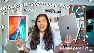 unboxing the NEW 2020 iPAD PRO 12.9 and APPLE PENCIL 2!!