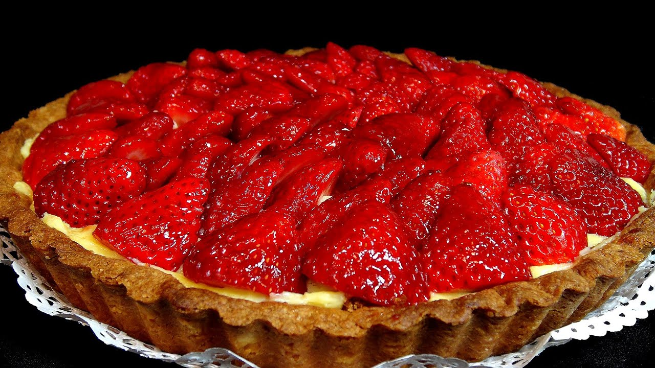 receta de tarta con fresas