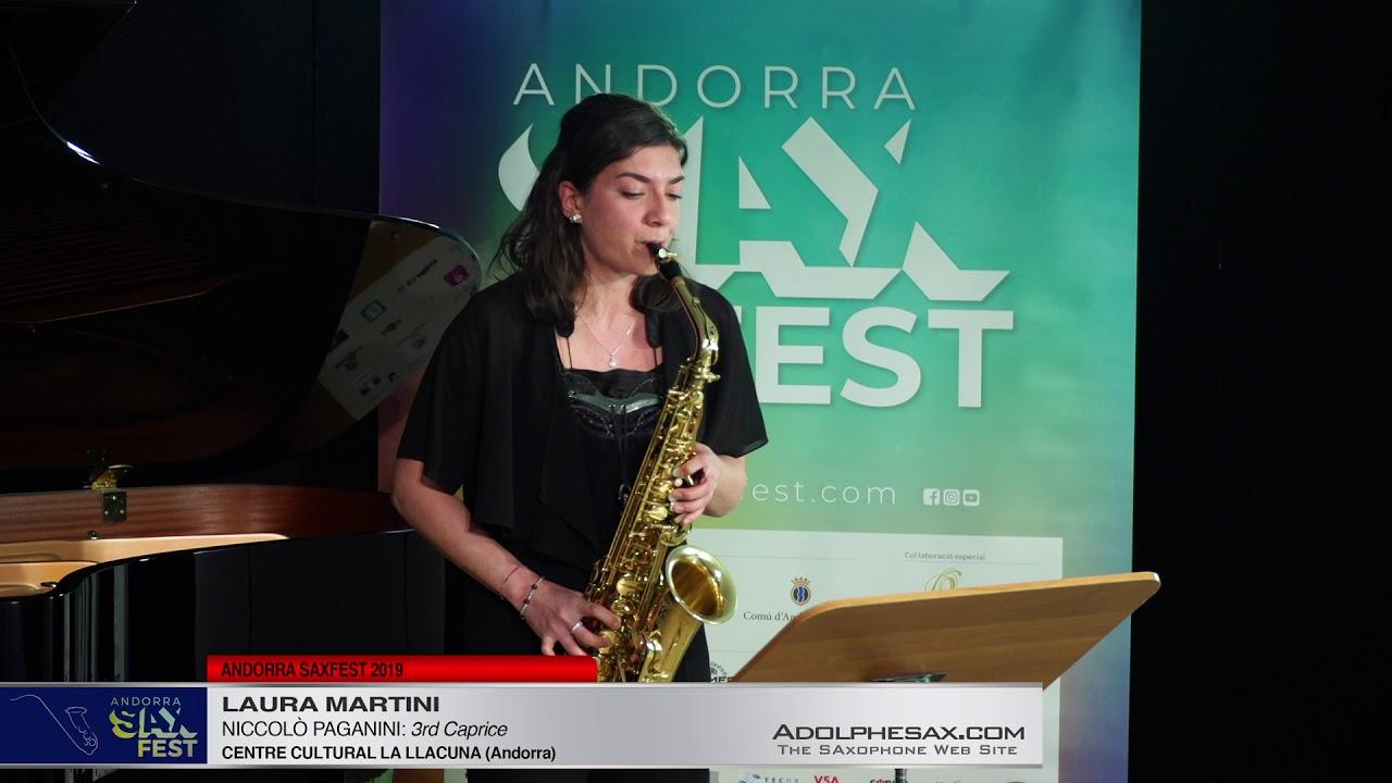 Andorra SaxFest 2019 1st Round   Laura Martini   3rd Caprice by Niccolo Paganini
