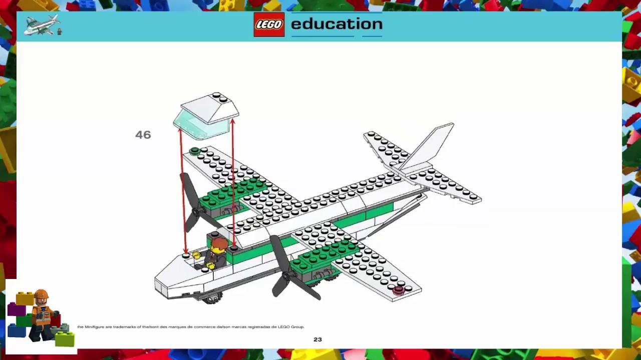 Lego Instructions Education 9335 Cargo Plane Youtube