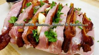 Bacon Maple Garlic Crock Pot Pork Loin