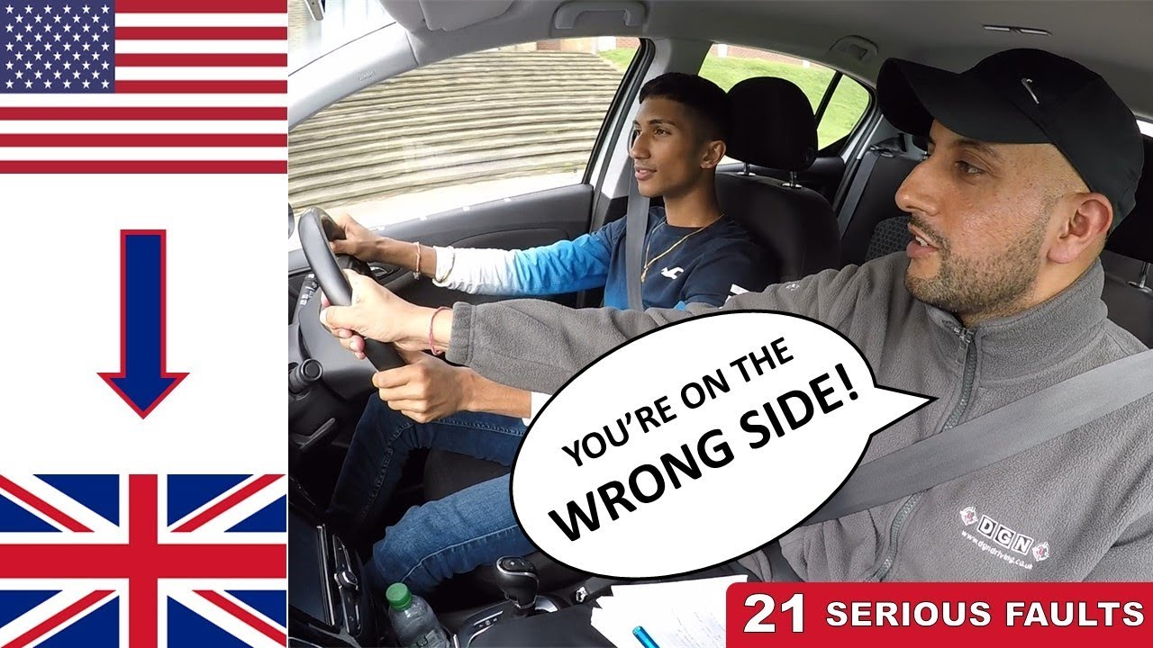 Download AMERICAN U.S. Driver Takes Driving Test In ENGLAND U.K.   Driving On The WRONG SIDE