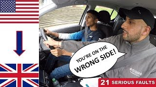 AMERICAN U.S. Driver Takes Driving Test In ENGLAND U.K. | Driving On The WRONG SIDE