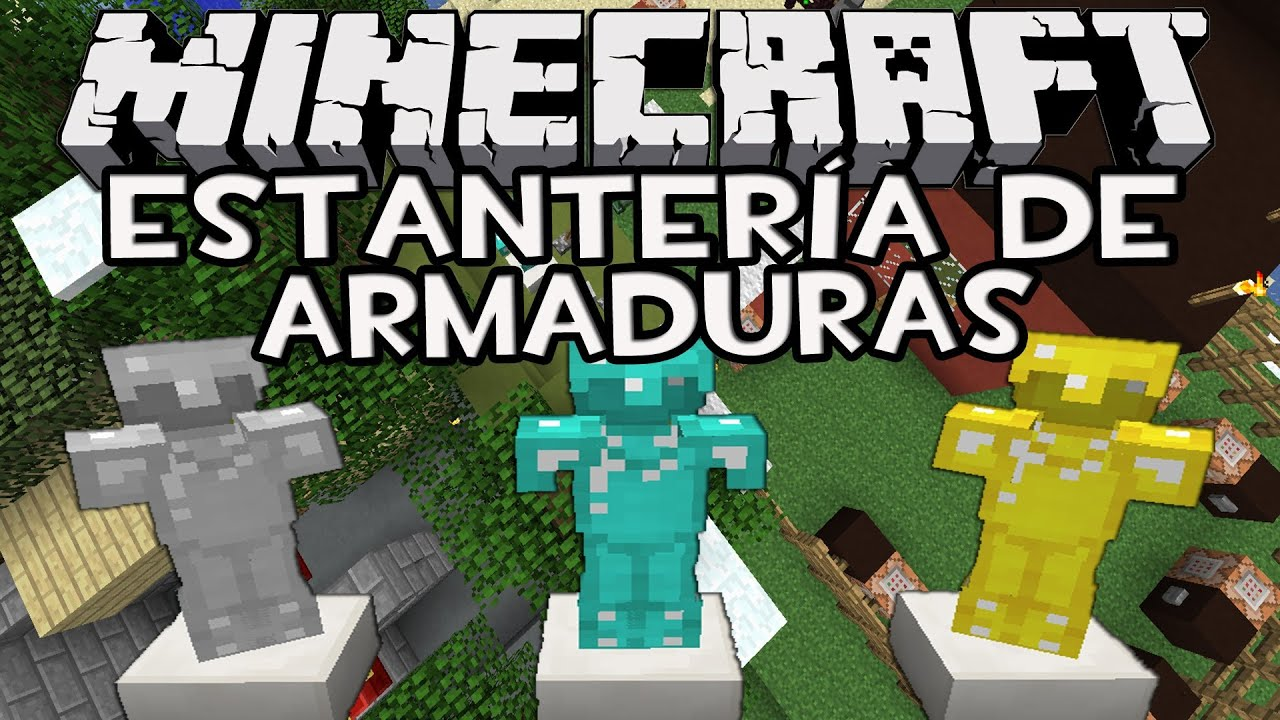 Minecraft 1 7 4 como hacer estanter as de armaduras con for Como hacer muebles en minecraft