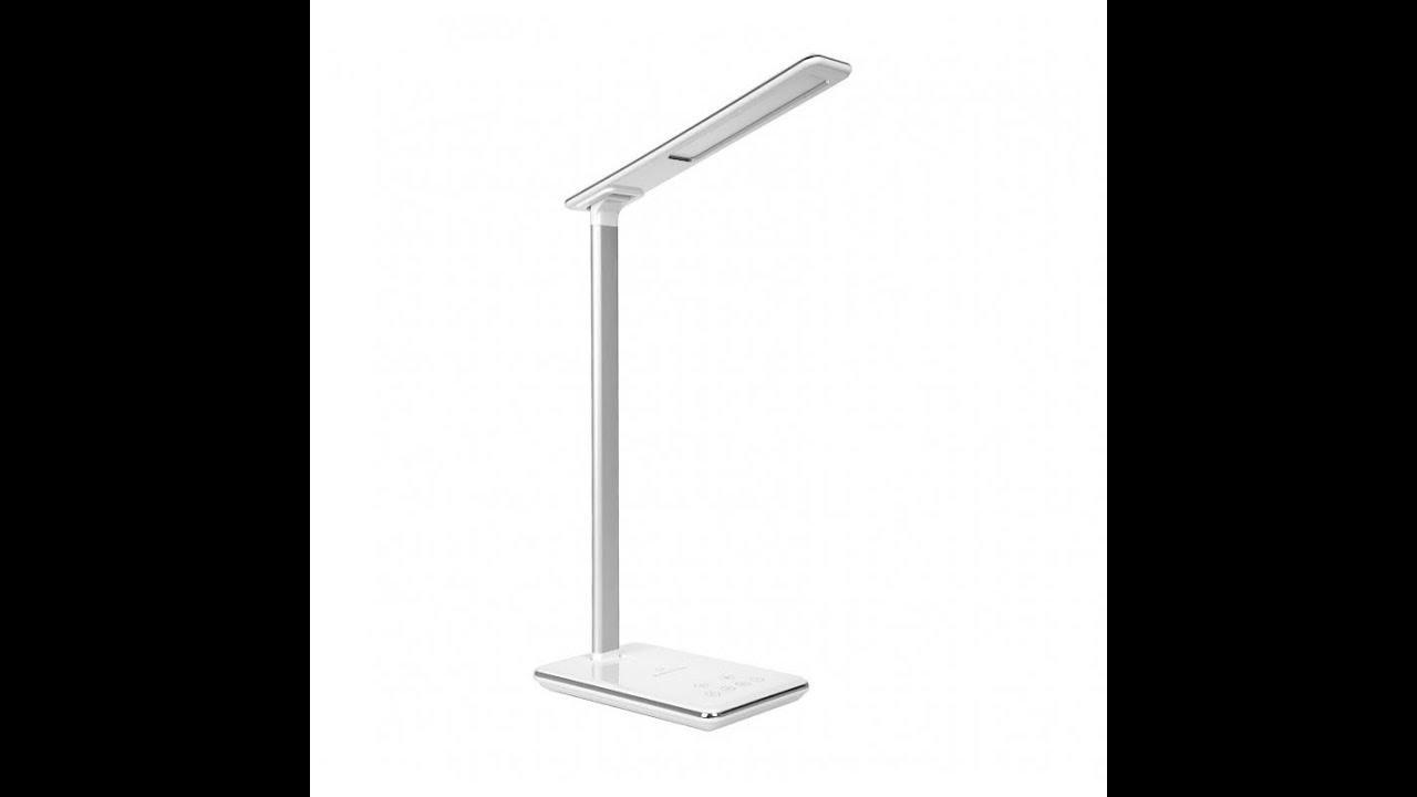 Lampa De Birou Cu Led Pyramid Cu Incarcare Wireless Pentru Iphonex
