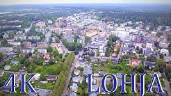Lohja Finland above  4K drone video
