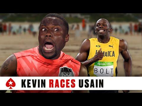 Kevin Hart Races Usain Bolt | PokerStars