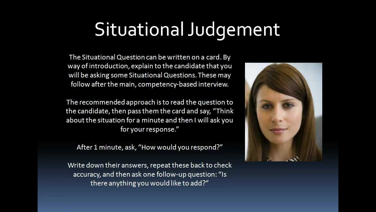 competency assessment situational judgement tests sjt competency assessment situational judgement tests sjt interview techniques training