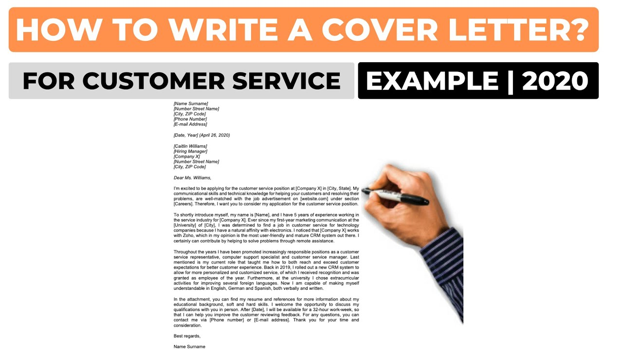 Cover Letter Example For Customer Service from i.ytimg.com