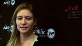 Julia Jentsch, Public Eye Awards 2010 Davos