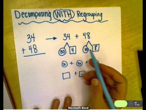 Decomposing Double Digit Addition Regrouping